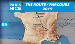 The route / Parcours - Paris-Nice 2019