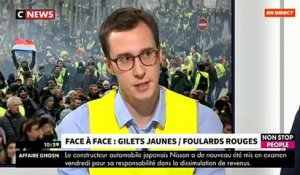 "Morandini Live: Moment de tension en direct pour le premier face-à-face entre ""gilet jaune"" et ""foulard rouge"" ce midi - VIDEO"