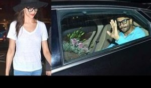 Ranveer Singh Picks Up Deepika Padukone At The Airport With A Big Bouquet