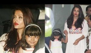 Aishwarya Rai & CUTE Daughter Aaradhya Spotted At The Airport