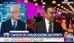 L'avocat de Carlos Ghosn sur BFMTV