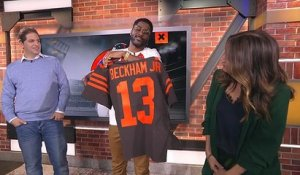 Burleson gets first Browns OBJ jersey ever made on 'GMFB'