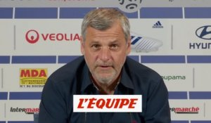 Genesio «On a un sentiment de honte» - Foot - L1 - OL