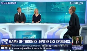 Game of Thrones: éviter les spoilers