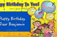 Jump Singers - Happy Birthday Dear Benjamin (For Partytime)