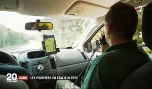 Les pompiers du Gard expliquent le dispositif de sécurité mis en place contre les incendies - VIDEO