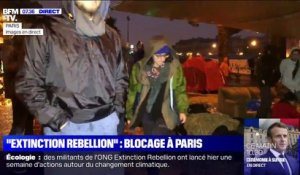 """Extinction Rebellion"": les militants continuent le blocage à Paris"