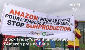 """Block Friday"": des militants écolos bloquent un entrepôt d'Amazon près de Paris"