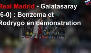 Real Madrid - Galatasaray (6-0) : Benzema et Rodrygo en démonstration