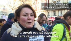 Retraites: paroles de manifestants à Paris