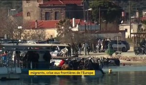 Migrants : les Grecs de: l'île de Lesbos saturent