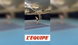 Andy Murray se teste à l'entraînement - Tennis - ATP