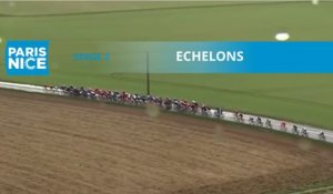 Paris-Nice 2020 - Étape 2 / Stage 2 - Bordure/ Echelons