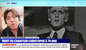 "Christophe savait ""capter l'air du temps"" se souvient François-Olivier Nolorgues"