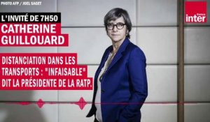 "Distanciation dans les transports : ""infaisable"" dit la présidente de la RATP, Catherine Guillouard"
