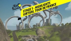 Virtual Tour de France 2020 - Stage 1 : Highlights