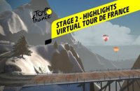 Virtual Tour de France 2020 - Stage 2 : Highlights
