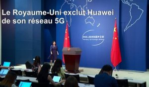 La Chine condamne l'interdiction de Huawei au Royaume-Uni et s'y oppose