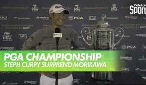 Golf - USPGA : Quand Steph Curry surprend Collin Morikawa