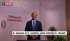 Barack Obama et Kamala Harris, unis contre Donald Trump