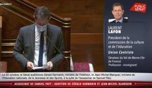 Assassinat de Samuel Paty : l'audition de Gérald Darmanin et Jean-Michel Blanquer - Les matins du Sénat (22/10/2020)