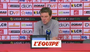 Jobard : «Un bon point» - Foot - L1 - Dijon