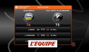 Les temps forts d'Alba Berlin - Asvel - Basket - Euroligue (H)