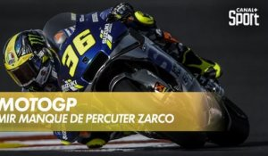 Quand Mir manque de percuter Zarco en version On Board