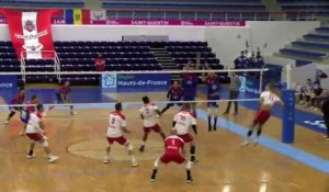 images maritima : quelques points du match Saint-Quentin Martigues Volley
