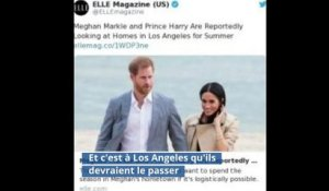 ✅  VIDEO. Le prince Harry et Meghan Markle cherchent une maison à Los Angeles