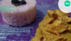 Curry de poulet au fromage blanc