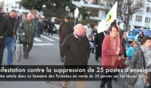 Manifestation contre la carte scolaire 2012/2013