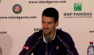 Djokovic in press conference after the 2012 final