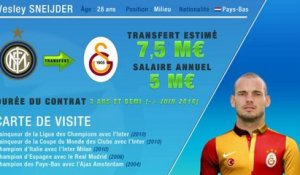 Officiel : Sneijder quitte l'Inter et signe à Galatasaray