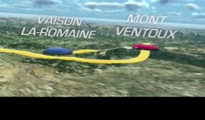 The 2013 route in 3D / Le parcours du Tour 2013 en 3D