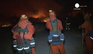 Californie : violent incendie ok