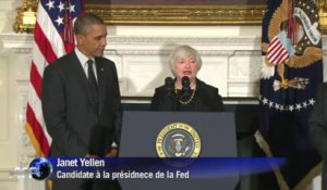Obama officialise la nomination de Yellen à la tête de la Fed