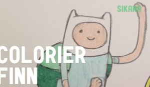 Colorier Finn d'Adventure Time