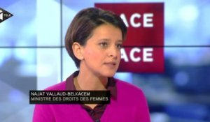 "Najat Vallaud-Belkacem invitée du ""Face à Face de Christophe Barbier"" le 6 Jan. 2014"