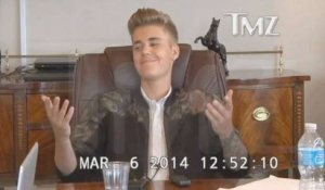 Justin Bieber Acts Smug at Deposition