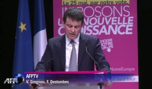 "Valls: ""Nous aimons la France et l'Europe"""