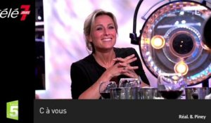 Zapping : Guy Bedos agacé par une question d'Anne-Sophie Lapix