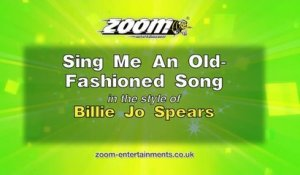 Zoom Karaoke - Sing Me An Old-Fashioned Song - Billie Jo Spears