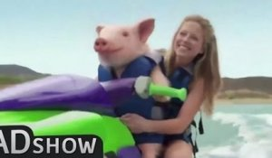 Pig steals hot blonde girlfriend