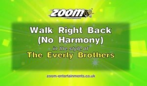 Zoom Karaoke - Walk Right Back (No Harmony) - The Everly Brothers