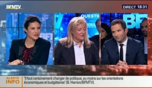 BFM Politique: L'interview BFM Business de Benoît Hamon par Hedwige Chevrillon (2/6) - 26/10