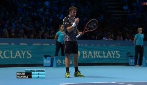 VIDEO : clash Mirka Federer et Stan Wawrinka - Masters Londres.