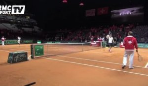 Tennis / Federer applaudi à l'entraînement - 21/11