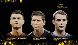 FOOT - BALLON D'OR 2014 : Ronaldo, Messi et Neuer finalistes