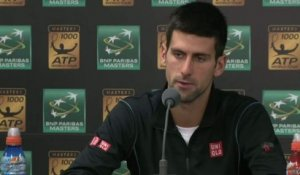 TENNIS - ATP - Bercy - Djokovic : «J'ai joué un grand match»